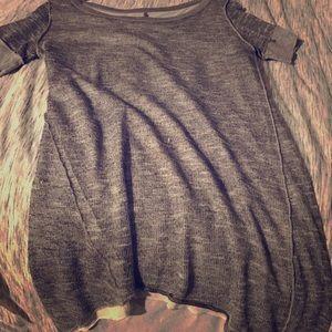 Tops - Gray asymmetrical top!